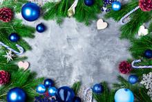 Christmas Frame Made From Xmas...