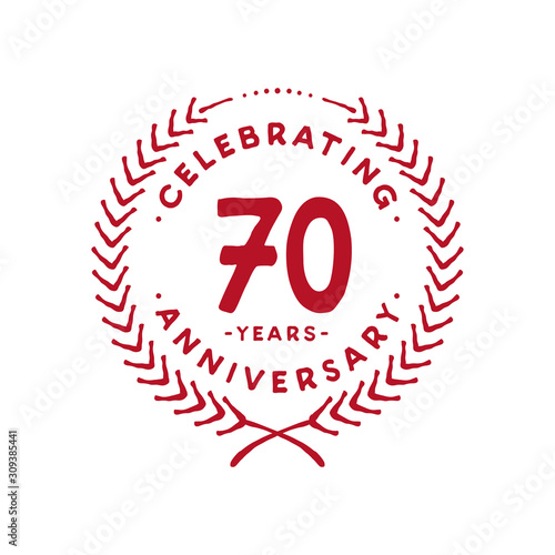 Papel de parede 70 years design template. 70th logo. Vector and illustration.