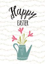 Easter Typography Quote Happy ...