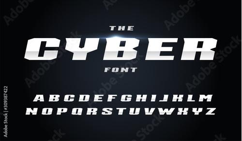 Cyber style letters set Fototapet