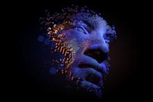 Abstract Digital Human Face.  ...