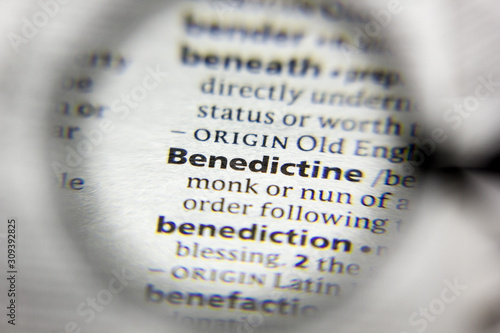 The word or phrase Benedictine in a dictionary. Wallpaper Mural