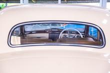 Frame Of Control Wheel Inside A Vintage Car .