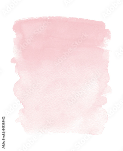 Fényképezés Blush pink watercolor stain Soft Gradient wash background Wedding Party Baby sho