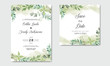 luxury and beauty floral wedding invitation template