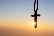 Silhouettes Of Crucifix Neckla...