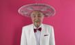 Leinwanddruck Bild - portrait of an old man in somrero