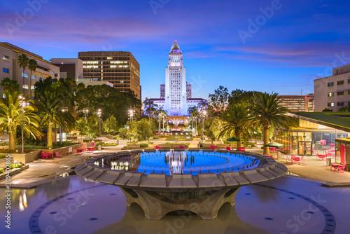 Fotografía  Los Angeles, California at City Hall.