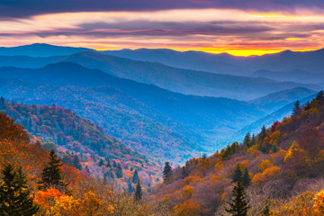 Fototapeta Do jadalni Smoky Mountains National Park, Tennessee, USA autumn landscape