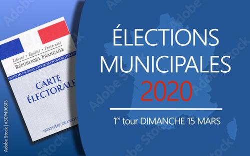 Élections Municipales 2020 Fototapet