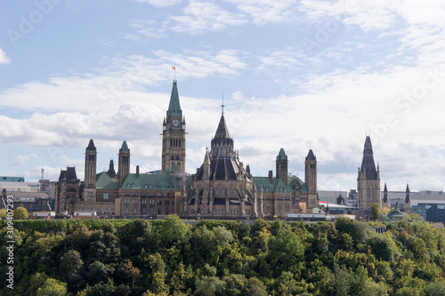 View of the Parliament Buildings in Ottawa. Ontario. Canada