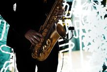 Saxophonist Play Music With Sa...