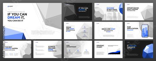 Cuadros en Lienzo Business presentation templates set