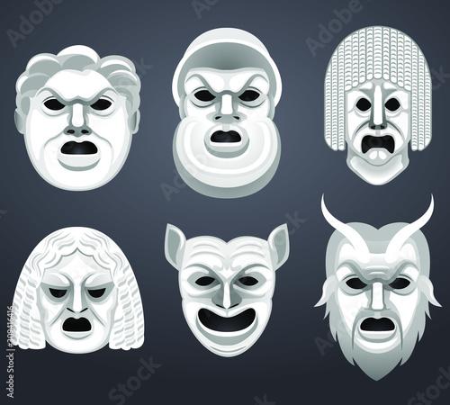 greek mask Fototapet