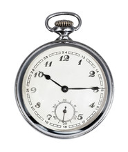 Vintage Pocket Watch With Whit...