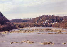 The Potomac River Leading Back To Harpers Ferry West Virginia