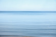 canvas print picture - Flat surface of the sea, calm. Blue sky, Baltic, day.