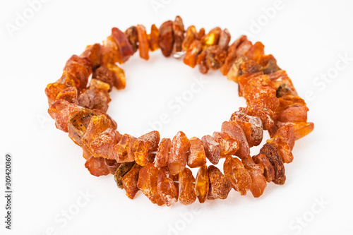 bracelet from natural rough amber nuggets Canvas Print