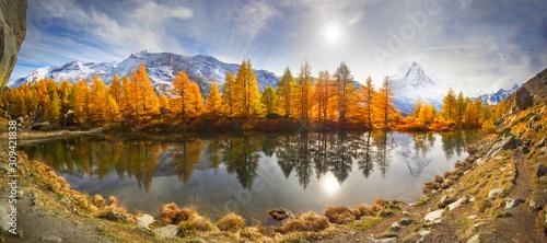 Obraz  Lake Grindjisee - fototapety do salonu