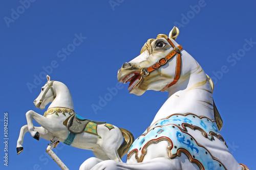 Vászonkép traditional merry-go-round carousel horse