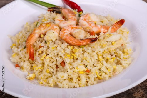 Photo  Thai style fried rice with prawn