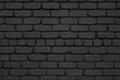 The brick wall is painted in matt black.