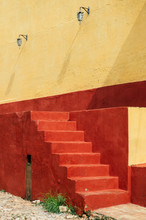 Colorful Staircase In The Streets Of Cuba