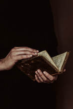 Anonymous Woman Reading A Old Book