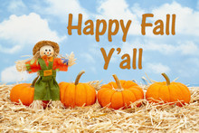 Happy Fall Y'all Message With ...