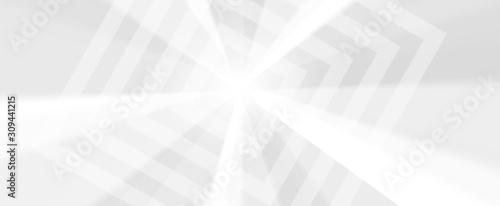 Sfondo bianco grigio grafico lungo banner minimal Canvas Print