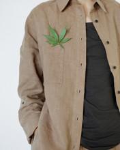 Cannabis Leaf On Hemp Shirt