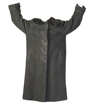 Female Woolen Coat With A Hood Isolated On A White Background.
