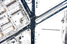 Aerial View Of Road And City I...
