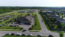 Aerial Over Outdoor Car Show L...