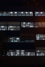 Business Building In The Evening