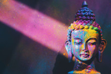 Colorful, Vibrant Buddha Figur...
