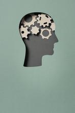 Human Head With Gears