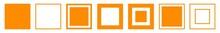 Square Icon Orange   Squares  ...