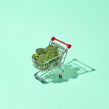 Shopping Cart Filled With Broc...