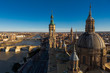 Zaragoza,Spain,1,2015; Basilica of Our Lady of Pilar is the most representative building in Zaragoza, the largest baroque temple in Spain