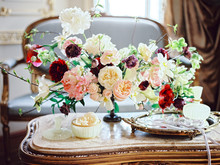 Flower Composition On Table In...
