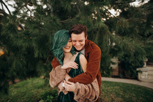 Beautiful Young Couple Laughin...