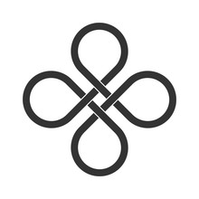 Infinite Loop Icon. Clover Lea...