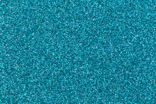 Aqua Color Glitter Background For Website, Advertising Banner Or Business Card. High Quality Photo For Valentine's Day With Space For Text.