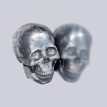 Skull Pattern On Silver