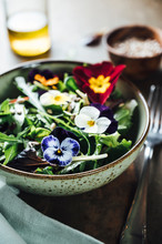 Food: Salad With Edible Flowers