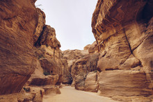 Way In Narrow Gorge Of High Ca...