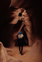 Girl At Antelope Canyon
