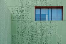 Window In Green Contemporary Facade