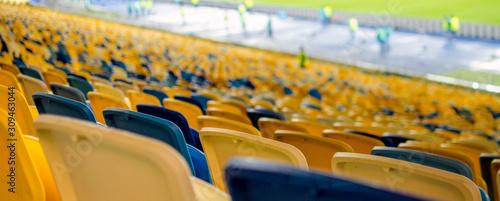 rows of empty seats in stadium Fototapet